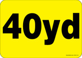 """5 x 7"""" 40 Yard Roll-Off Container Decal"""