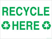 "9 x 12"" Recycle Here Recycling Decal"