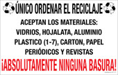 "7 x 11"" Spanish Single Sort Recycling Absolutely No Garbage Sticker Decal"