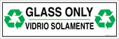 "4 x 12"" Glass Only Bilingual Sticker Decal"