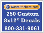 250 Custom Vinyl Decals 8 x 12 Inches