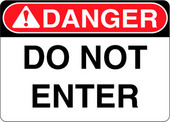 Danger Decal Do Not Enter Sticker