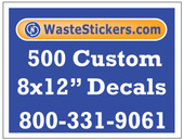 500 Custom Vinyl Decals 8 x 12 Inches