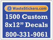 1500 Custom Vinyl Decals 8 x 12 Inches