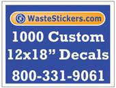 1000 Custom Vinyl Decals 12 x 18 Inches
