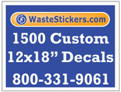 1500 Custom Vinyl Decals 12 x 18 Inches