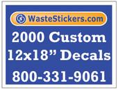 2000 Custom Vinyl Decals 12 x 18 Inches