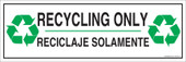 """4 x 12"""" Recycling Only Sticker Decal"""