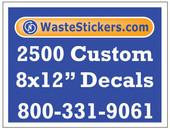2500 Custom Vinyl Decals 8 x 12 Inches