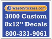 3000 Custom Vinyl Decals 8 x 12 Inches
