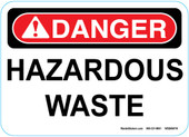 "5 x 7"" Danger Hazardous Waste Sticker Decal"
