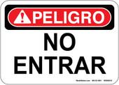 """5 x 7"""" Danger Peligro No Entrar (Spanish) Decal"""
