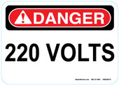 "5 x 7"" Danger 220 Volts Sticker Decal"