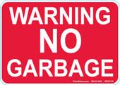 """5 x 7"""" Red Warning No Garbage Decal"""