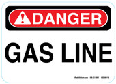 "5 x 7"" Danger Gas Line Sticker Decal"