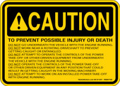 "5 x 7"" Caution Prevent Possible Injury Decal"