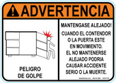 "5 x 7"" Advertencia Mantengase Alejado Decal"