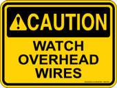 "9 x 12"" Watch Overhead Wires Decal"
