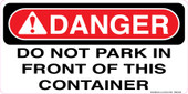 "6 x 12"" Danger Do Not Park Decal"