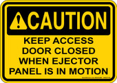 "5 x 7"" Caution Keep Access Door Closed Decal"
