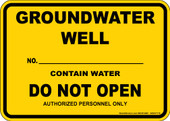 "5 x 7"" Groundwater Well Decal"