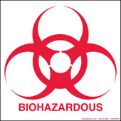 "6 x 6"" Biohazardous Decal"