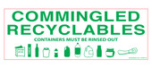 "3 x 8.5"" Commingled Recyclables Sticker"