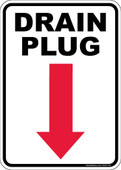 "5 x 7"" Drain Plug Decal"