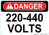 "5 x 7"" Danger 240-440 Volts Decal"
