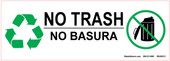 "3 x 8.5"" Bilingual No Trash Only"