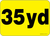 """5 x 7"""" 35 Yard Container Decal"""