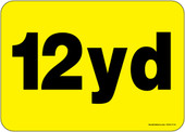 """5 x 7"""" 12 Yard Container Decal"""