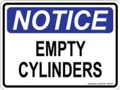 "9 x 12"" Notice Empty Cylinders"