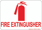 "5 x 7"" Fire Extinguisher Decal"