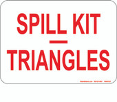 5 x 7 Spill Kit, Triangles Decal