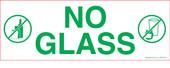 """3 x 8.5"""" No Glass Sticker"""