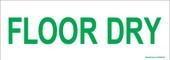 "3 x 8.5"" Floor Dry Sticker"