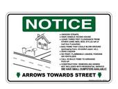 "6 x 9"" Notice Arrows Towards Street Sticker Decal"