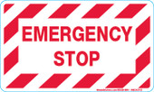 "3 x 5"" Emergency Stop Decal"