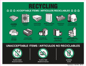 "8 x 11"" Recycling Acceptable Items Bilingual"