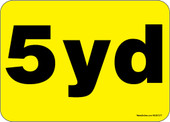 """5 x 7"""" 5 Yard Container Decal"""