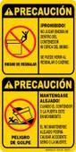 """6 x 12"""" Precaucion  Prohibido Manténgase Alejado Decal"""
