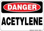 """5 x 7"""" Danger Acetylene Decal"""