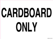 """9 x 12"""" Cardboard Only Recycling Decal"""