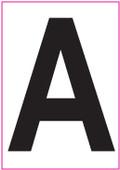 4 Inch Black Letter Decals