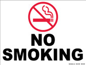 "9 x 12"" No Smoking Decal"