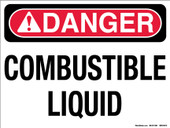 "9 x 12"" Danger Combustible Liquids Decal"
