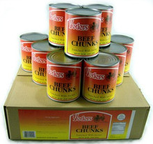 Canned beef chunks by the case
