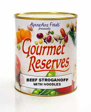 Beef Stroganoff with Noodles Gourmet Reserves Freeze Dried Food