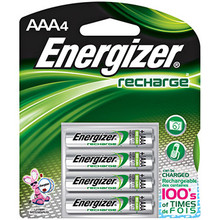 AAA Rechargable Batteries 4 pk NIMH